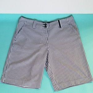 Nike Golf Checkered Black and White Shorts